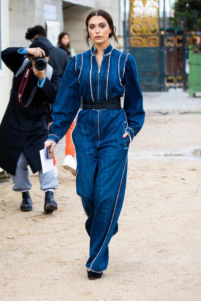 Heloise Agostinelli, Paris Fashion Week podzim - zima 2020/2021       Autor: Claudio Lavenia/Getty Images