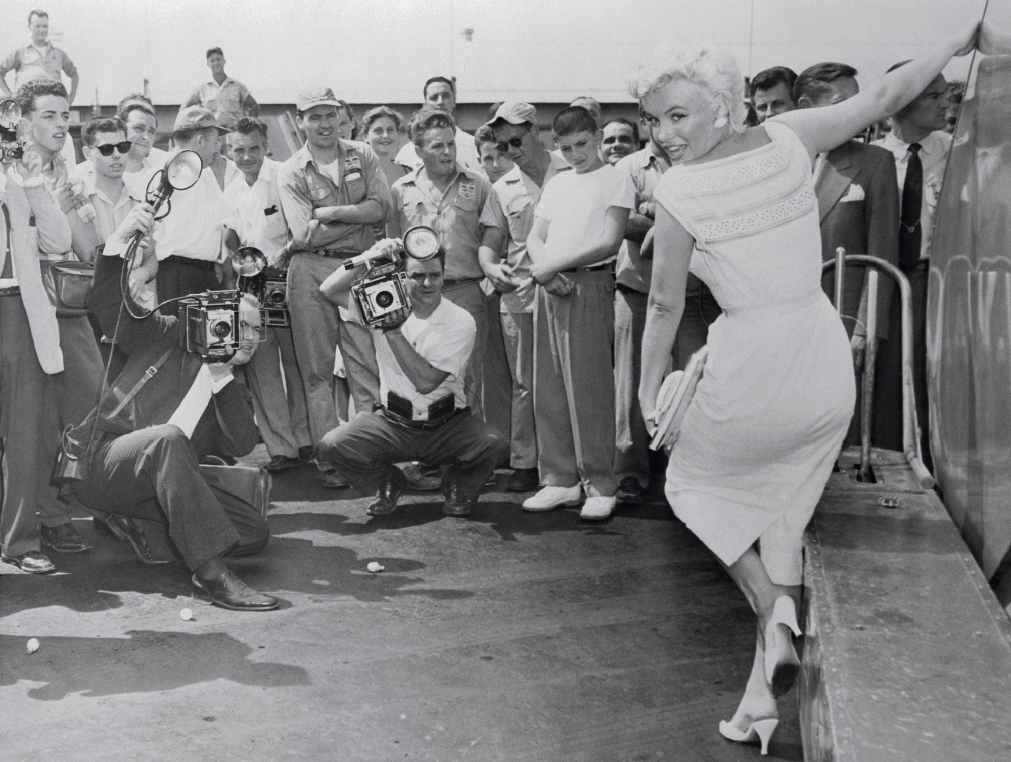 Marilyn Monroe na letišti Idlewild, 1960         Autor: Getty Images