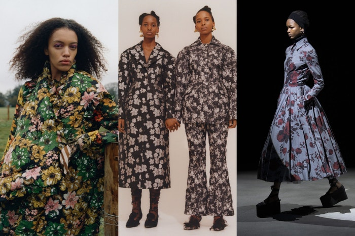 Preen by Thornton Bregazzi autumn/winter 2021, Yuhan Wang autumn/winter 2021, Erdem autumn/winter 2021.
