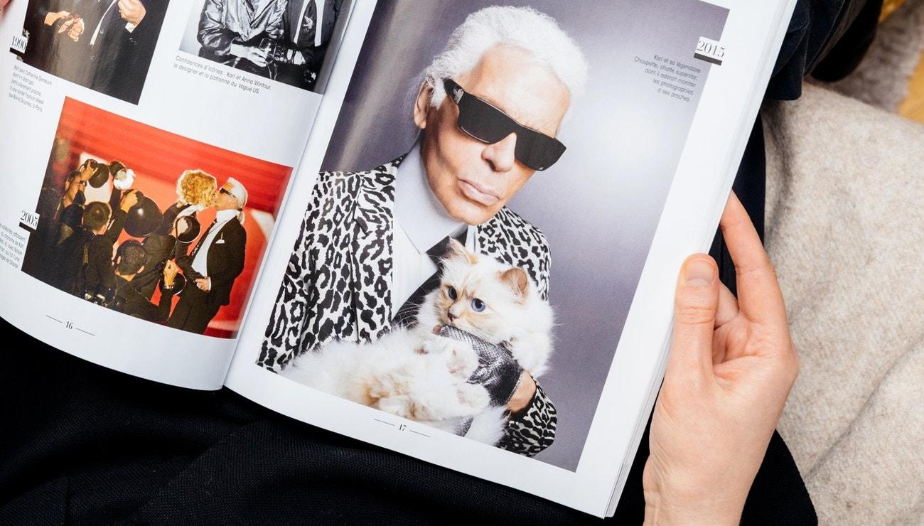 Čtyřnohá influencerka Choupette v knize fotografií Karla Lagerfelda