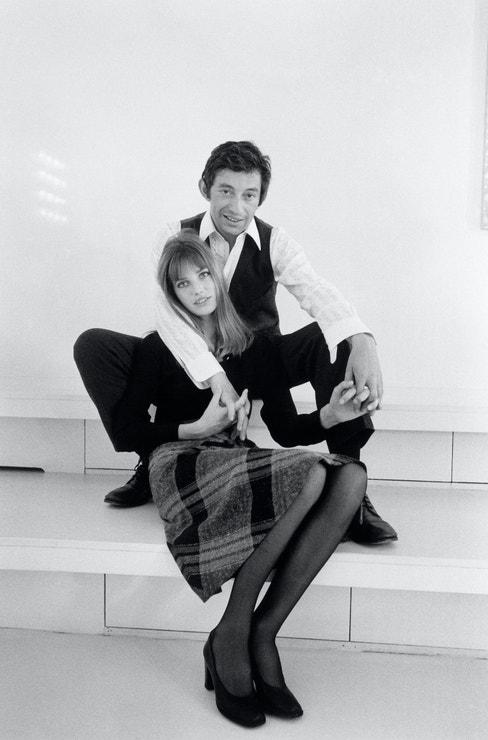 Serge Gainsbourg a Jane Birkin představují novou kolekci Cacharel, 1968