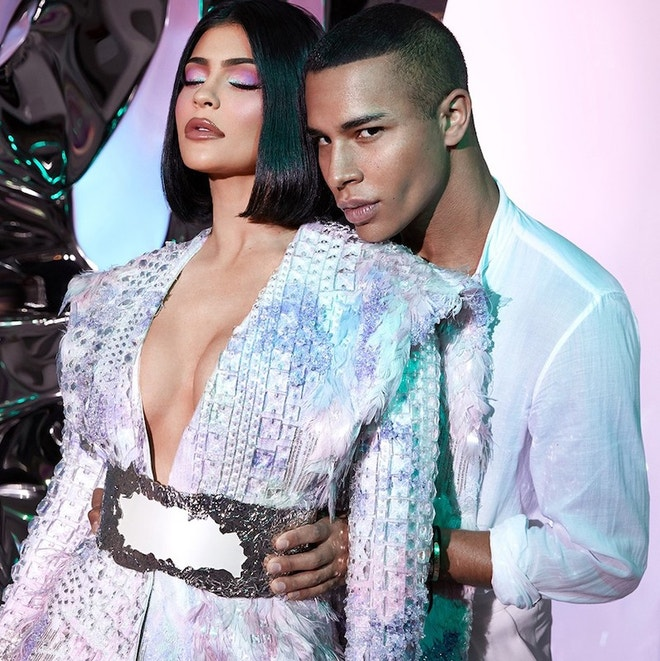 Kylie Jenner a Olivier Rousteing, září 2019