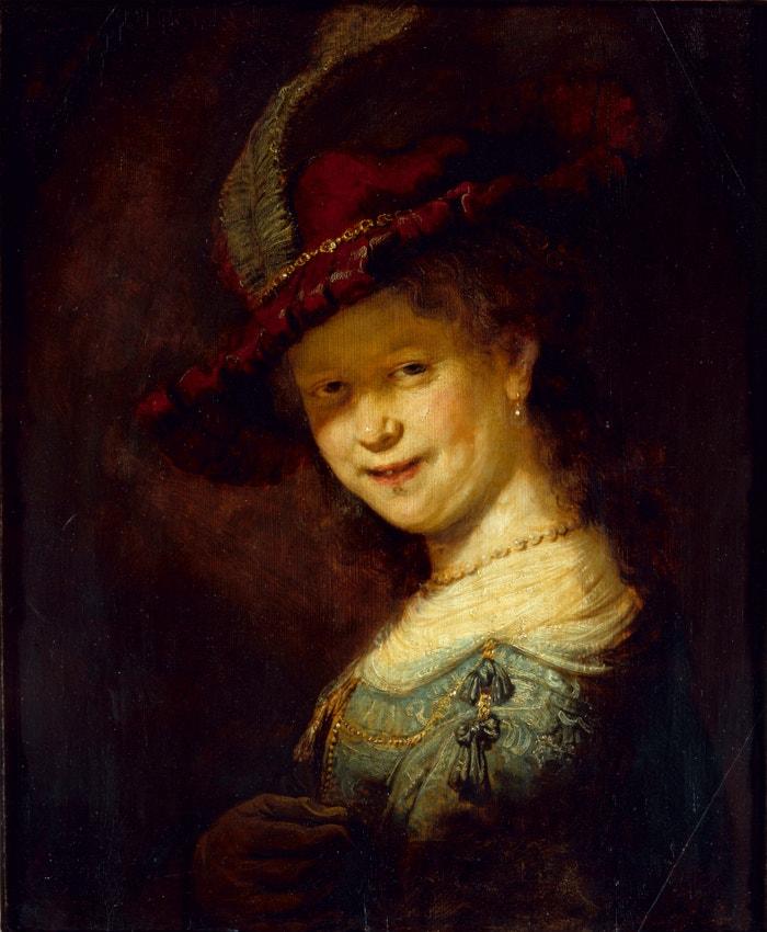 Rembrandtova malba Saskia Uylenburgh jako dívka z roku 1633