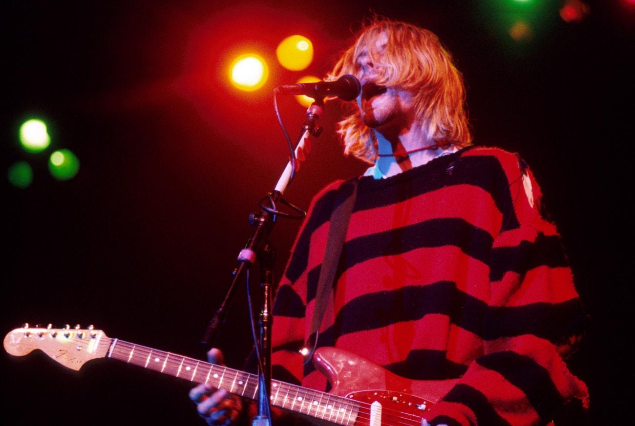 Kurt Cobain na koncertu skupiny Nirvana v New Yorku