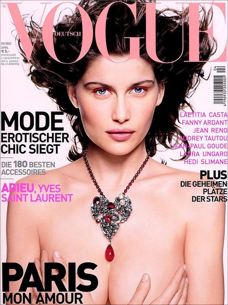 Laetitia Casta by Mark Abrahams, Vogue Germany, April 2002 Autor: via Models.com
