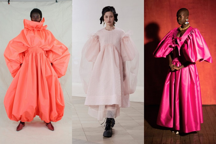 Roksanda autumn/winter 2021, Simone Rocha autumn/winter 2021, Osman autumn/winter 2021.