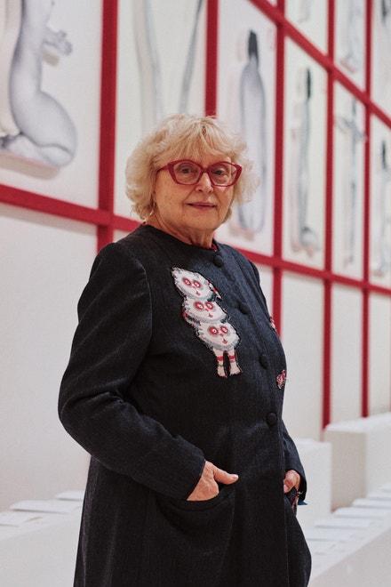Italská umělkyně Bianca Pucciarelli Menna