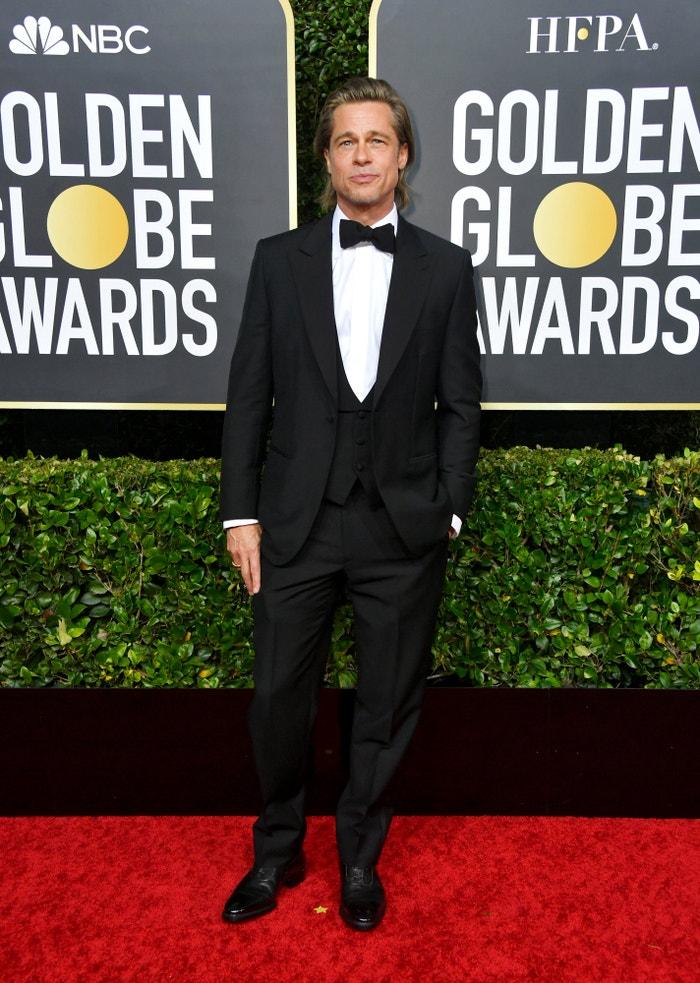 Brad Pitt v Brioni Autor: Getty Images