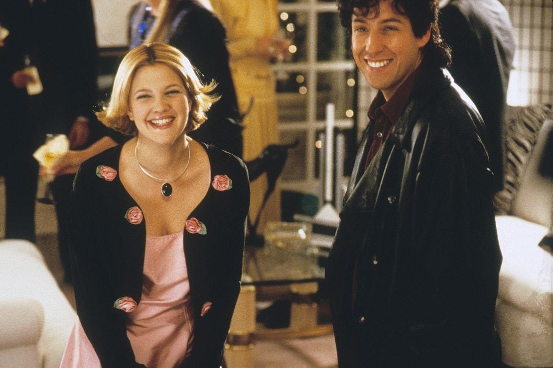 Drew Barrymore a Adam Sandler ve filmu Píseň pro nevěstu, 1997