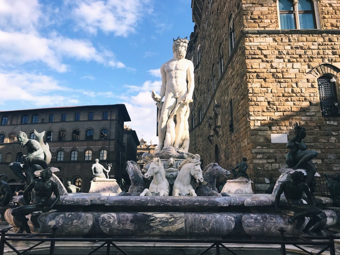 Neptun před Palazzo Vecchio, Florencie, 2019 Autor: Bára Hranoš/LUSH