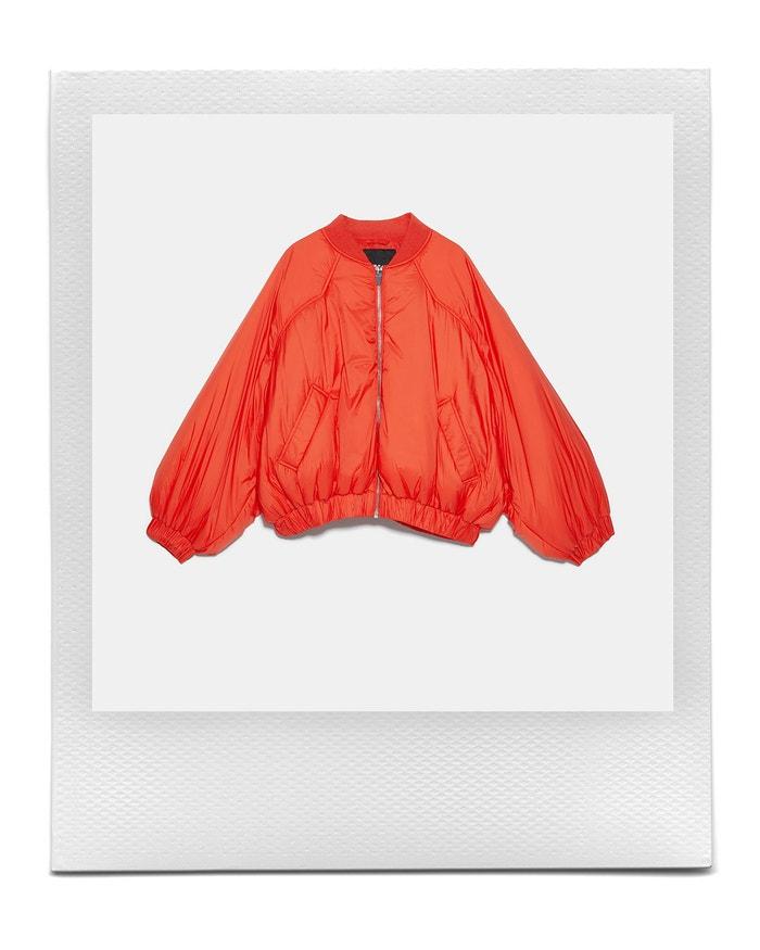 Oversized Puffer Bomber Jacket, Zara, sold by Zara, 1,299 Kč €