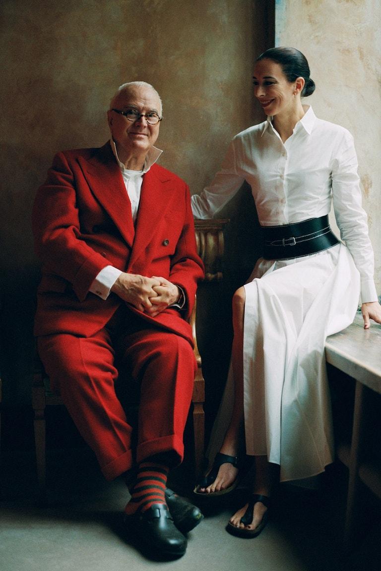 Manolo Blahnik s neteří Kristinou v kampani Birkenstock