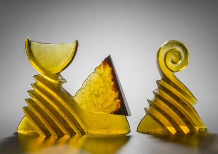 Kryštof Trubáček: Bez názvu, 1989, ve formě tavené, broušené sklo