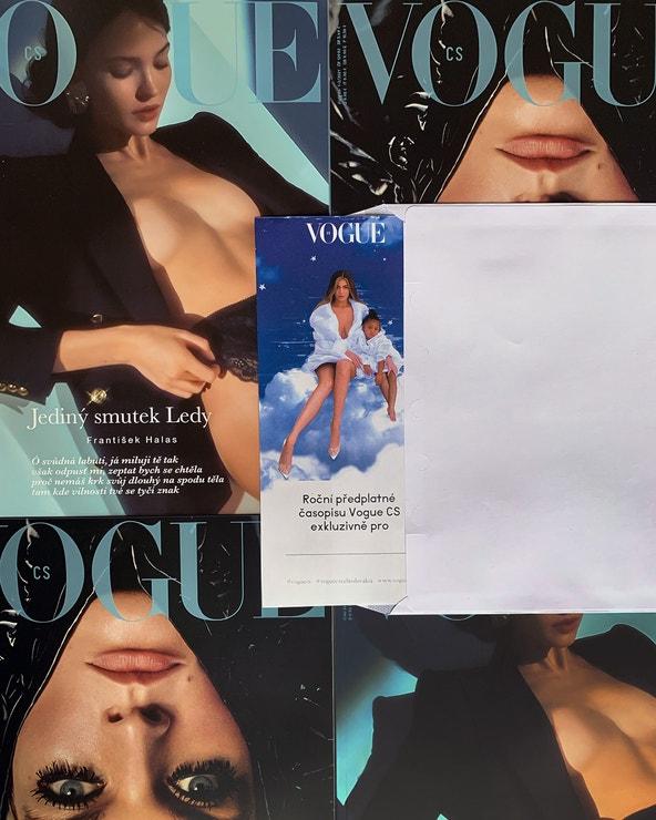 Darujte pod stromeček roční předplatné Vogue CS. Vánoční voucher s Kylie Jenner a Stormi si můžete stáhnout ihned po objednání, kupujte na Vogue CS, od 999 Kč/39 €. Další nabídky předplatného s dárkem najdete zde.