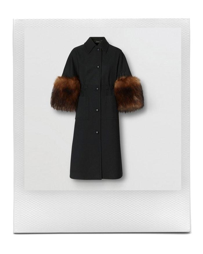 Faux Fur Trim Cape Detail Wool Blend Coat, BURBERRY, sold by Burberry, CZK 79,000.00