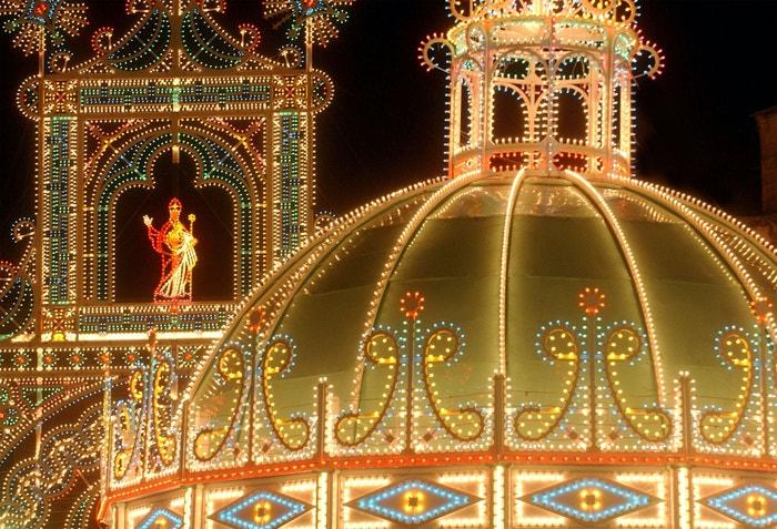 Slavnost světel v jihoitalském Lecce