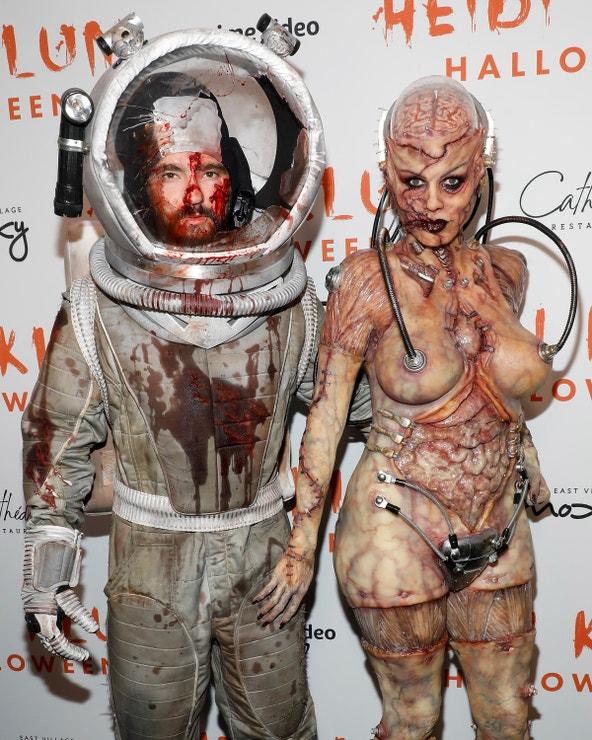 Heidi Klum a její manžel Tom Kaulitz během 20. ročníku halloweenské party, 31. října 2019, New York