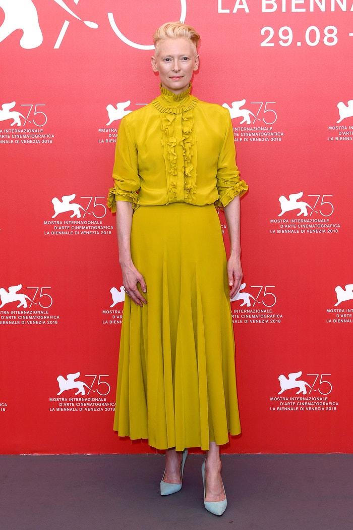 Tilda Swinton na filmovém festivalu v Benátkách, září 2018    Autor: David Fisher/REX/Shutterstock