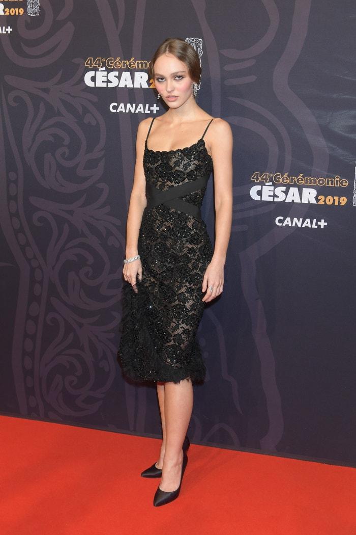 Lily-Rose Depp na Cesar Film Awards 2019, únor 2019          Autor: Rindoff/Charriau/Getty Images