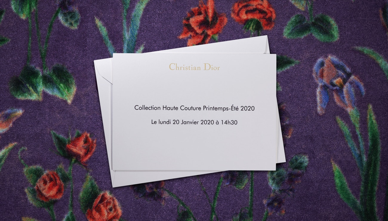 Živě z Paříže: Dior Haute Couture show SS20