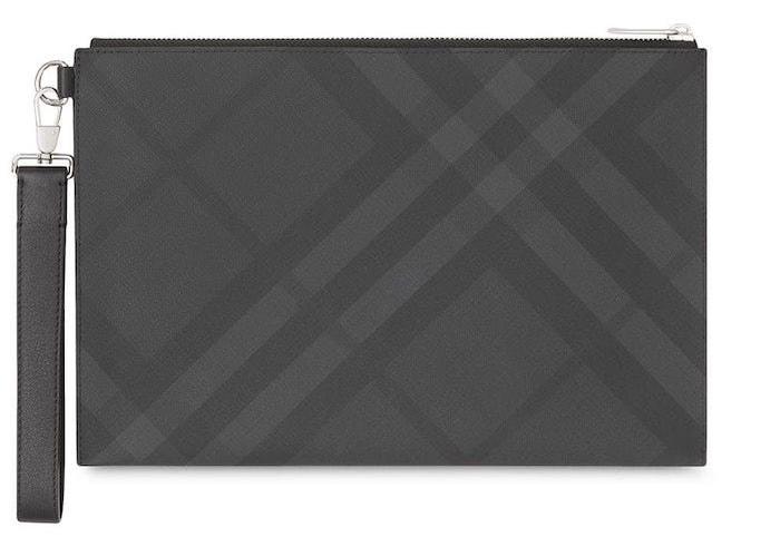 Tmavě šedé kožené pouzdro na doklady, BURBERRY, prodává Burberry, 12 500 Kč