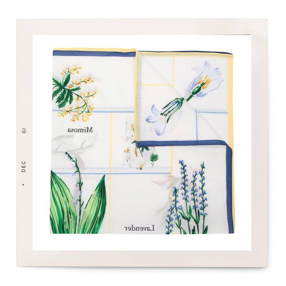 Šátek s botanickým potiskem, Sonia Rykiel, prodává Farfetch, 134 €