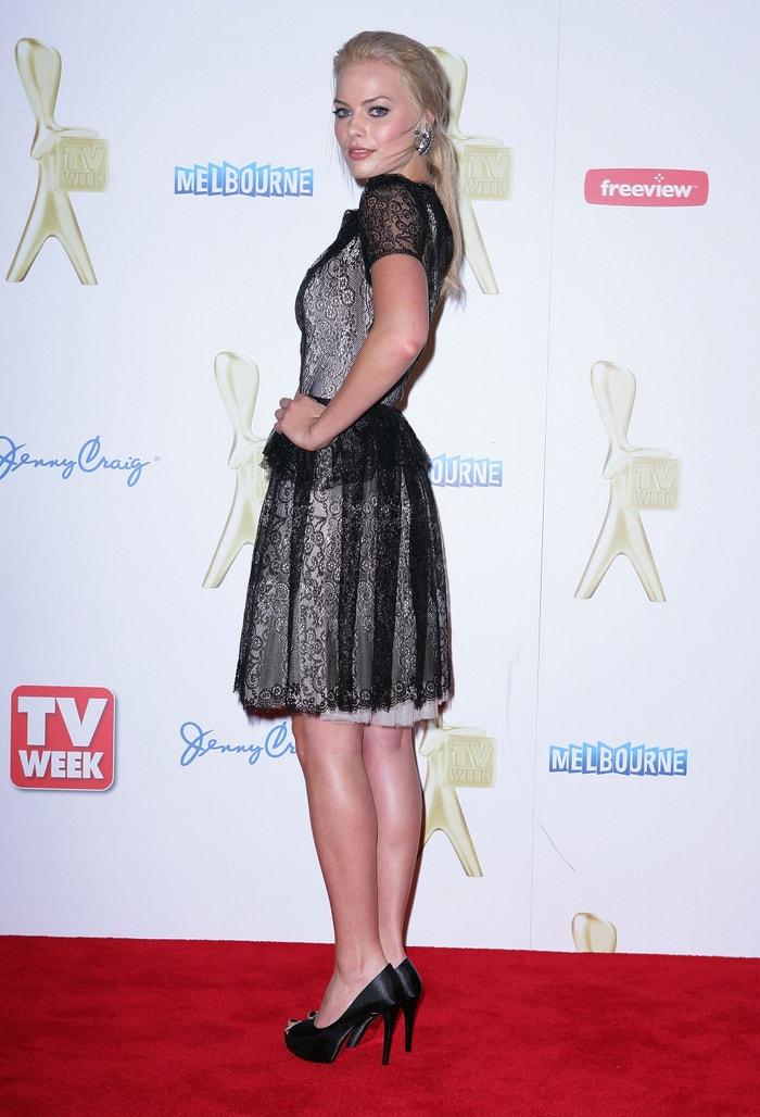 Margot Robbie na Logie Awards v Melbourne, květen 2011             Autor: Don Arnold/WireImage