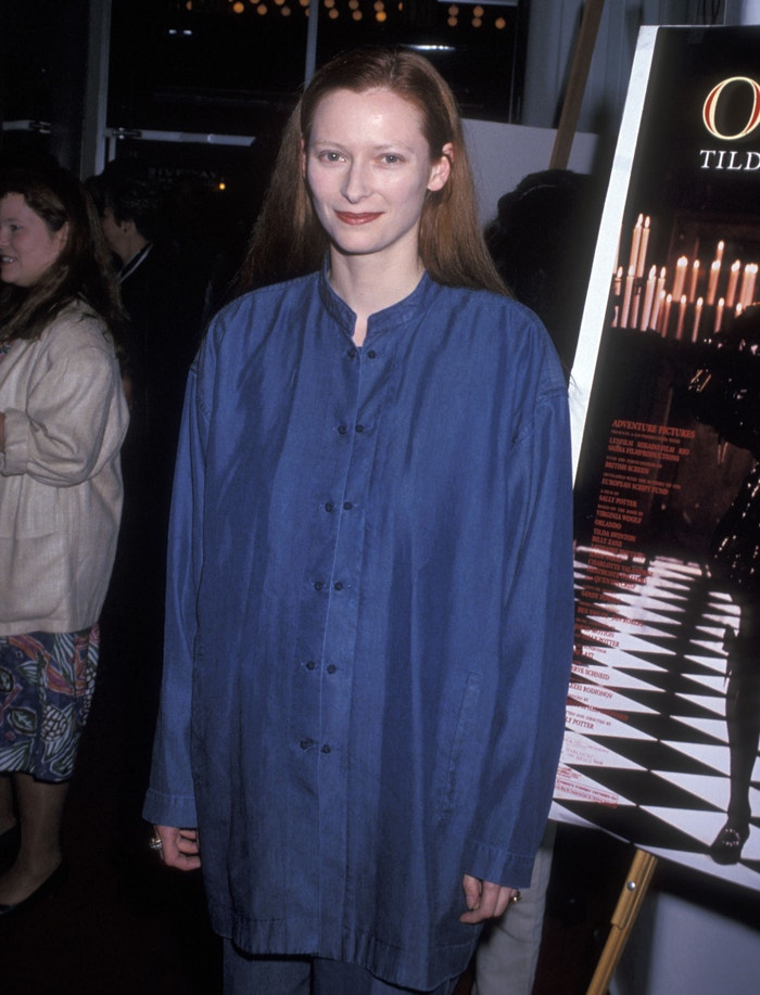 Tilda Swinton na premiéře filmu Orlando, 1993 Autor: Ron Galella/Ron Galella Collection via Getty Images