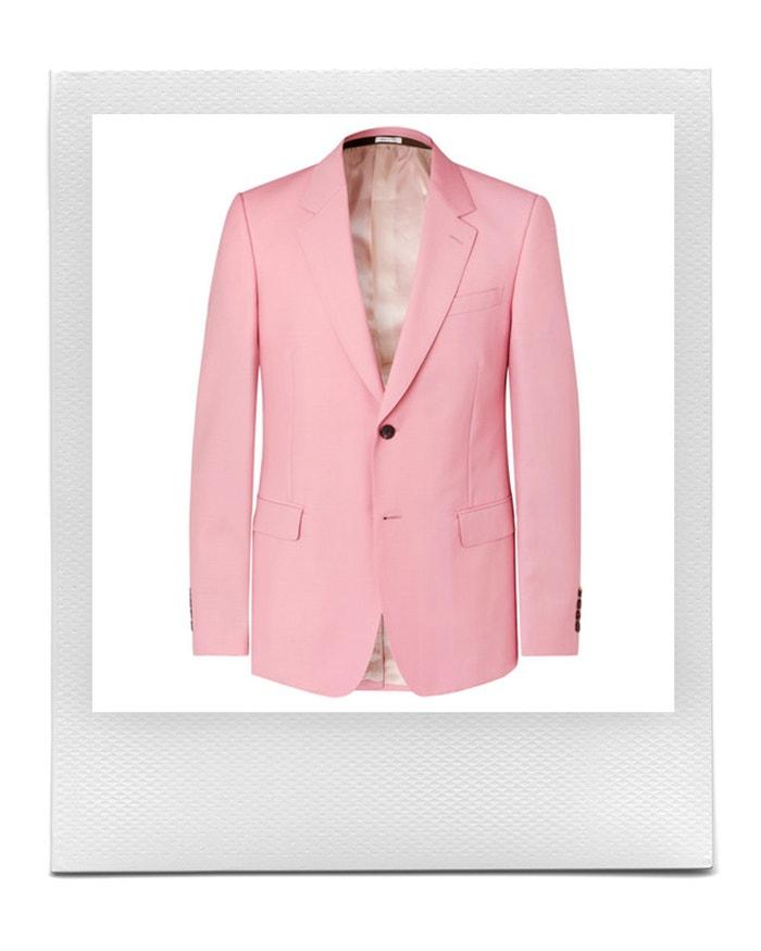 Růžové slim sako, Alexander McQueen, prodává Mr Porter, 1 380 £ Autor: Mr Porter
