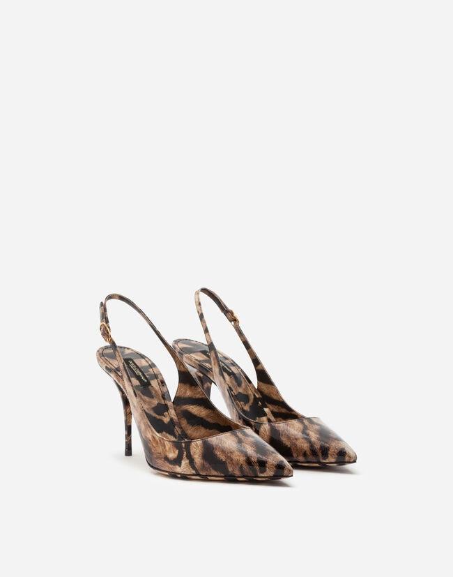 Boty na podpatku s tygřím printem, Dolce & Gabbana, prodává Dolce & Gabbana, € 1150  Autor: Archiv firmy
