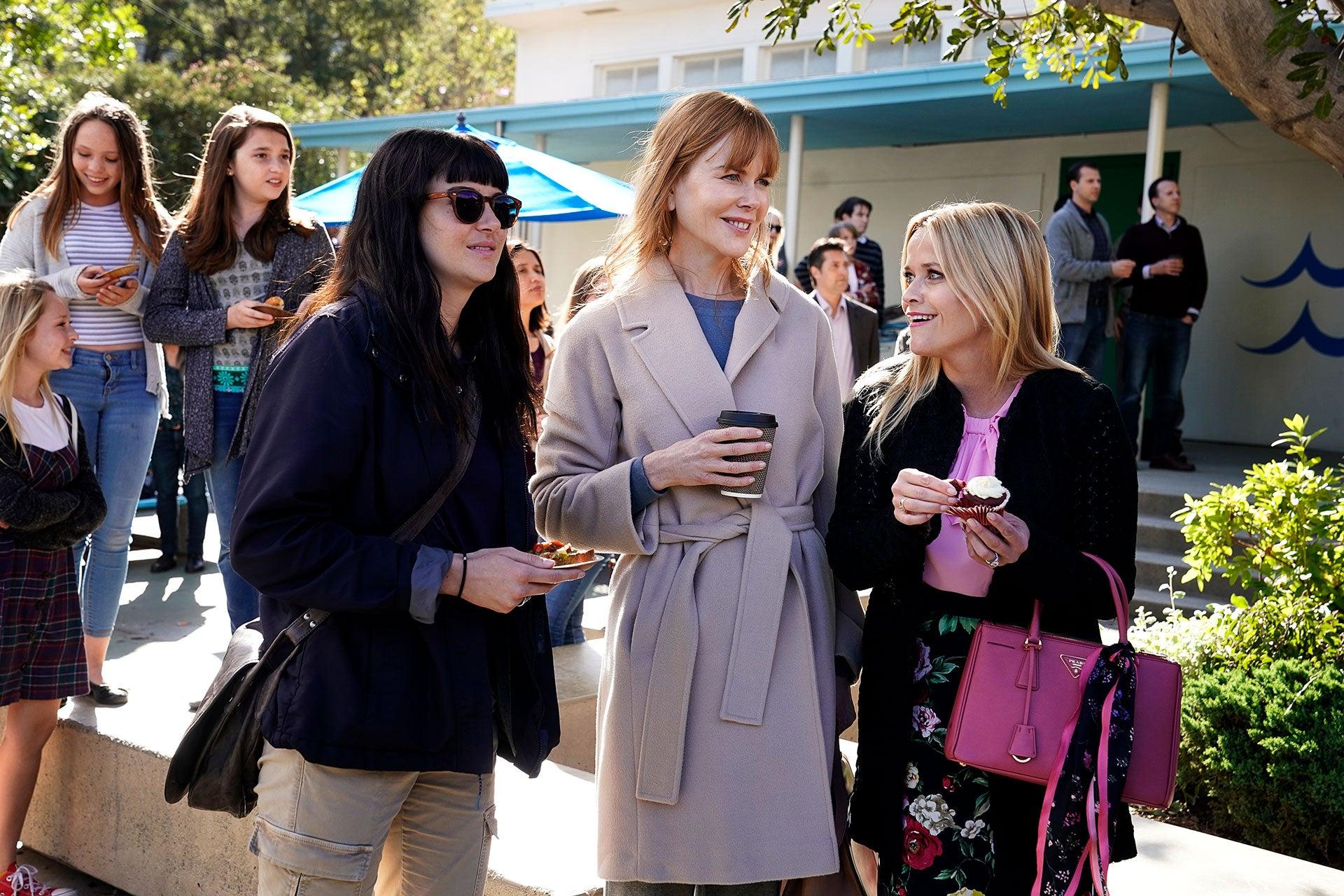 Nicole Kidman, Reese Witherspoon a Shailene Woodley v seriálu Sedmilhářky Autor: HBO