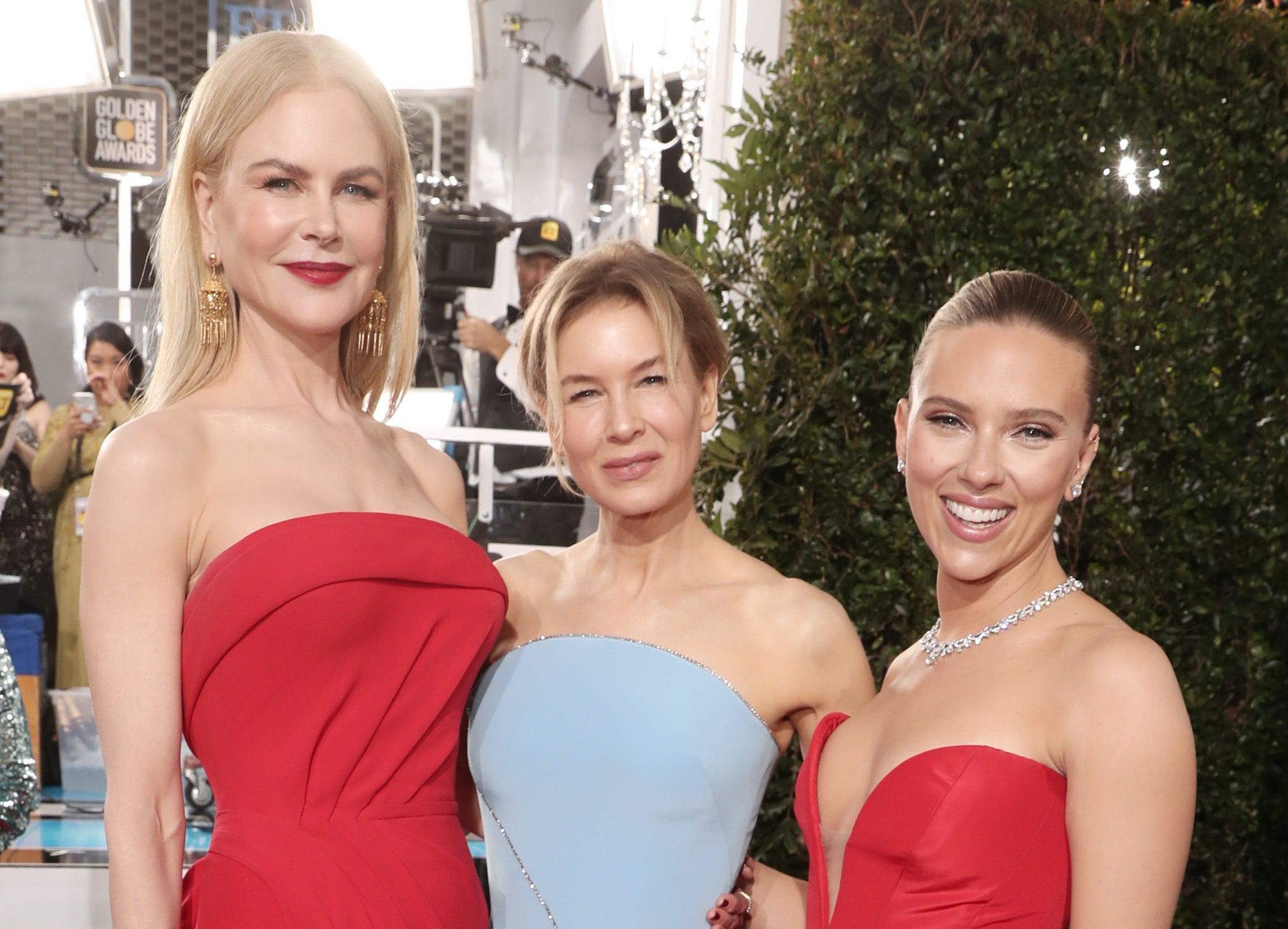 Nicole Kidman, Renée Zellweger a Scarlett Johansson         Autor: Todd Williamson/NBC/NBCU Photo Bank via Getty Images